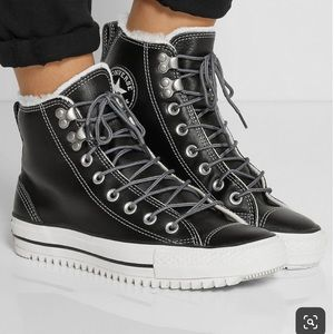 Converse Taylor City  Shearling Leather High Top